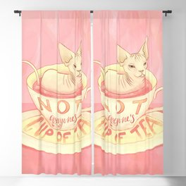 Not everyone's cup of tea - Sphynx Cat Blackout Curtain