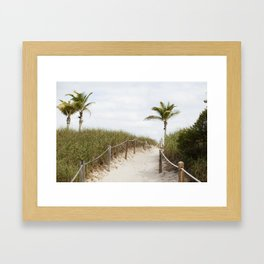 Sandy Dunes, Miami Framed Art Print
