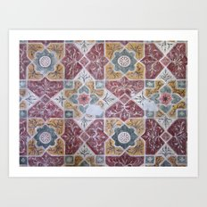 Geometric Wall Pattern Art Print