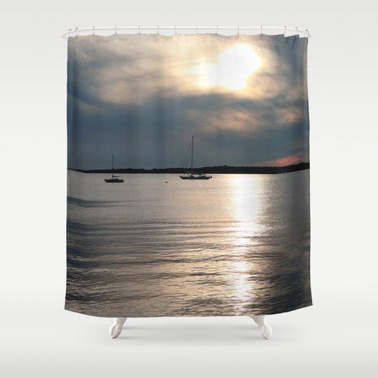 Sunset Over Narragansett Shower Curtain