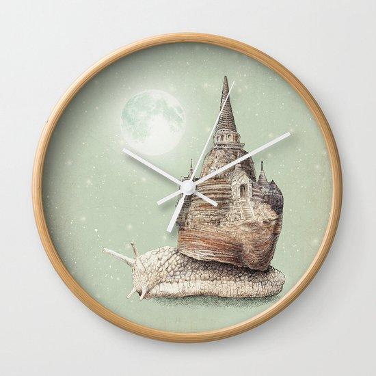 The Snail's Dream Wall Clock
