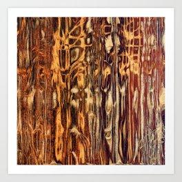 Grunge Wood Art Print