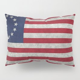 USA Betsy Ross flag - Vintage Retro Style Pillow Sham