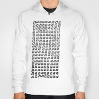 music notes Hoodies featuring MUSIC Notes  by Geryes