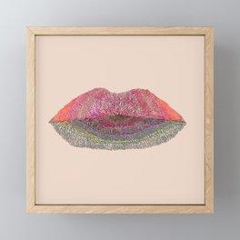 Flowered Lips 3 Framed Mini Art Print