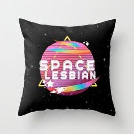 Space Lesbian Throw Pillow