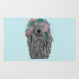 Dredlock Dog (Pastel Blue Edition) Rug