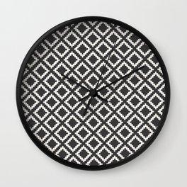 kilim black and white Wall Clock