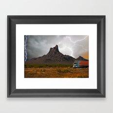 Monsoon Ghost Run to Tucson Framed Art Print