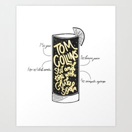 Tom Collins Art Print
