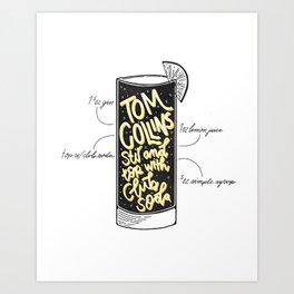 Tom Collins Art Print