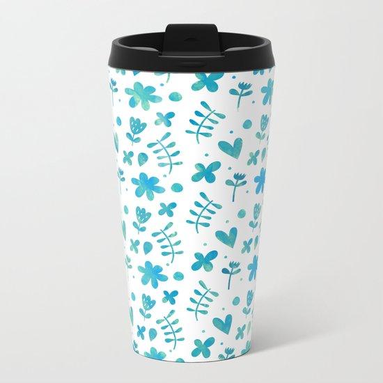 Colorful Lovely Pattern IX Metal Travel Mug