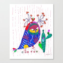 owl in love Canvas Print