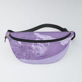 Winter Mountains in Plum - Alaska Fanny Pack