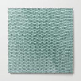 Woven Texture Mint Metal Print