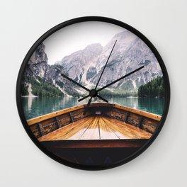 Mountain Lake Wall Clock
