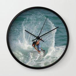 Skim boarding Wall Clock