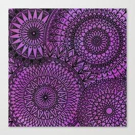 Pink Mandalas - LaurensColour Canvas Print