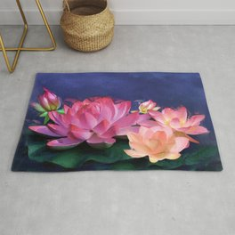 The Purity of Lotus Rug