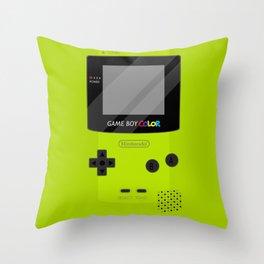 Gameboy Color - Green Throw Pillow