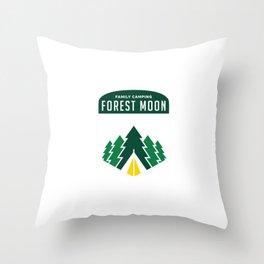 Endor Family Camping Throw Pillow