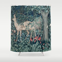 William Morris Forest Deer Shower Curtain