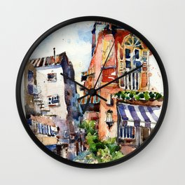 Sunset at Club Street Wall Clock