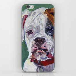 Boxer Dog Portrait iPhone Skin