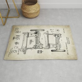 Sewing machine patent Drawing Rug