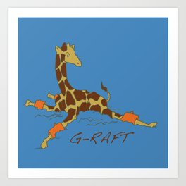 G-raft Art Print