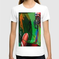 football T-shirts featuring Football by Robin Curtiss