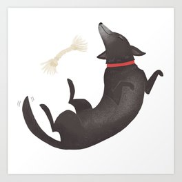 Happy Dog Art Print