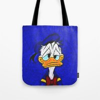 donald duck Tote Bags featuring Donald Duck by DisPrints