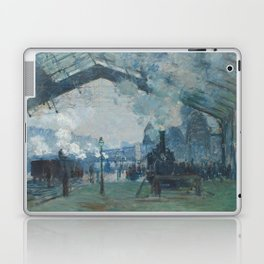 Claude Monet - Arrival of the Normandy Train Laptop & iPad Skin
