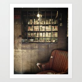 FADED MEDICINE SHOP Art Print