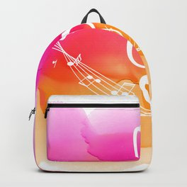 Watercolor, Musical Notes, watercolor t-shirt, watercolor sticker Backpack