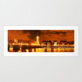 panorama from london Art Print