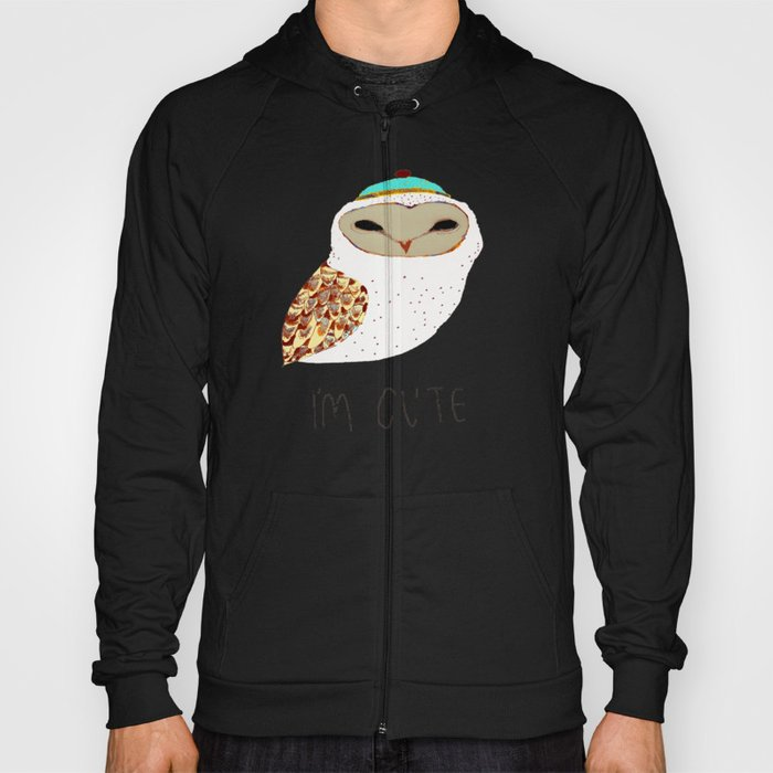i'm cute owl illustration  Hoody