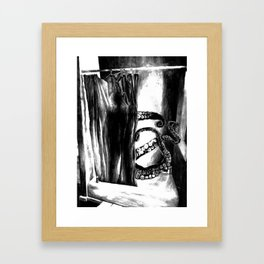 Some(thing)one In The Shower Framed Art Print