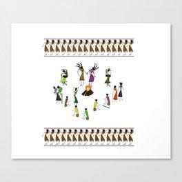 Wedding_Ceremony_Saura_Tribal_Art Canvas Print