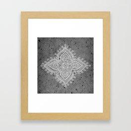 Henna Inspired 5 Framed Art Print