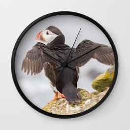 Stretching wings Wall Clock