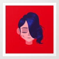 see through girl 3 Art Print
