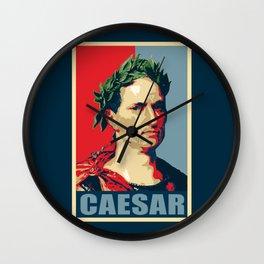 Caesar Political Propaganda Pop Art Wall Clock