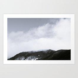 Fog Hill Art Print