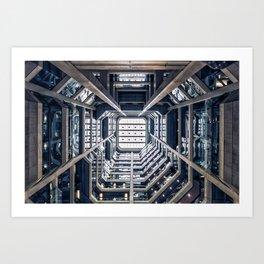 Space station Corridor Art Print