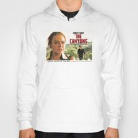 "lindsay lohan Hoodies featuring Lindsay Lohan ""The Canyons"" Retro Film Poster by Eric Terino"