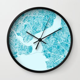 ISTANBUL City Map - Turkey | Aqua | More Colors, Review My Collections Wall Clock