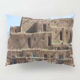 A Taos Pueblo Building Pillow Sham