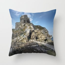 Kinbane Castle Throw Pillow